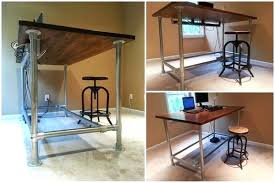 Adjustable Standing Desk Diy Diy Standing Desk Ikea Standing Desk Medium Size Of Desk Hack