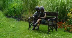 bronze sculptures and bronze statues children garden statues