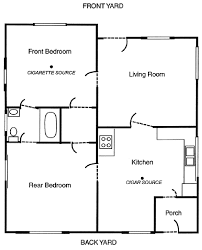 Floor Plan Two Bedroom House Floor Plan Of A Two Bedroom House In Menlo Park Ca Used For