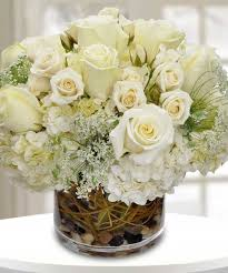 white flower centerpieces prominence all white flower arrangement s wilmington florist