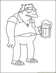 barney gumble coloring free barney coloring pages