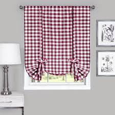 Pink Gingham Shower Curtain Better Homes And Gardens Gingham And Blooms Valance Walmart Com