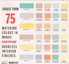 vintage goodness 1 0 vintage decorating 1950 u0027s paint color chip