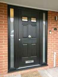 Exterior Doors Fitted Grey Composite Rockdoor Fitted In St Albans Back Deck Front