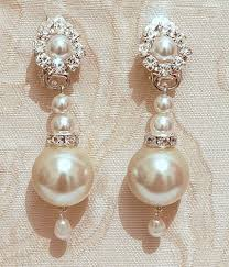 bridal chandelier earrings pearls bridal earrings bridal chandelier earrings vintage