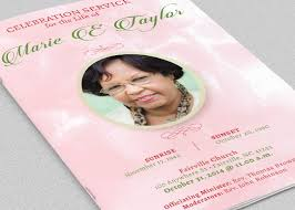 Images Of Funeral Programs Pink Roses Funeral Program Template Inspiks Market