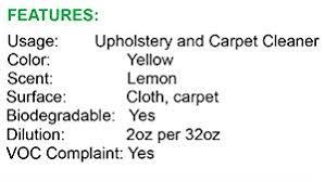 Upholstery Job Description Amazon Com Upholstery U0026 Carpet Shampoo 1 Gallon Automotive