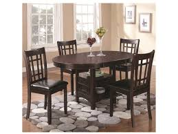 coaster lavon 5 piece dining set with storage table adcock