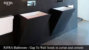 Concrete Bathroom Sink by Rifra Bathroom Sink Gap To Wall Corian Concrete Youtube