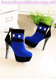 womens fashion boots uk 87 5 s boots blue toe stiletto patchwork zipper