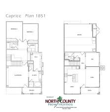 Mission House Plans Caprice Floor Plans New Townhomes In San Marcos North County