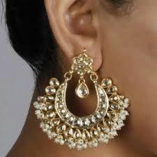 chandbali earrings online bali earrings kundan chand bali online shopping for earrings