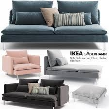 Chair With Ottoman Ikea 3d Models Sofa Sofas Chairs Ottoman Ikea Soderhamn