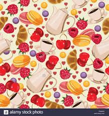 seamless pattern food seamless pattern in french style with food background for menu