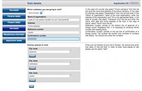 submit russian visa application form online way to russia guide