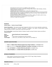 Resume Samples For 2 Years Experience by Resume Format For 3 Years Experience In Java 12065