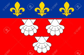 Flag Capital Flag Of Aurillac Is A French Commune Capital Of The Cantal
