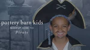 easy halloween makeup tutorial pirate costume for pottery barn