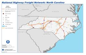 North Carolina Maps National Highway Freight Network Map And Tables For North Carolina