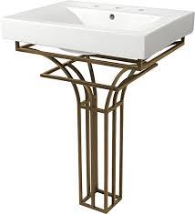 Pedestal Bathroom Vanities D Vontz Iron Virtus 24 Single Pedestal Bathroom Vanity Set