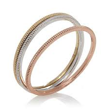 band ring 10k gold 1mm set of 3 polished band rings 7614431 hsn