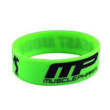 silicone bracelet black images Green black debossed muscle pharm silicone bracelet for fitness jpg