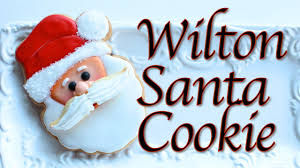 how to make santa cookies wilton santa cookie cutter youtube