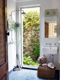 Outdoor Shower Mirror - absolutely love this bathroom how great it would be to start your