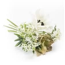 succulent bouquet artificial anemone succulent bouquet white grey 20cm 4 25