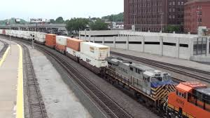 bnsf 7388 leads eb stacktrain with crex leaser and shave and a