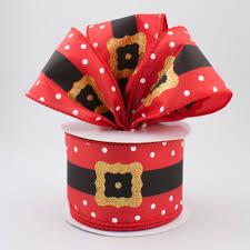 santa belt ribbon 2 5 santa belt satin polka dot ribbon 10 yards rt16 170