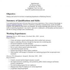 Objective With Summary Of Skills by Resume Summary Objectiveresume Template Objective Resume Or Cover