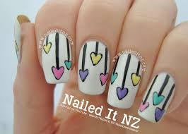 nailed it nz valentine u0027s day nail art tutorial pastel hearts