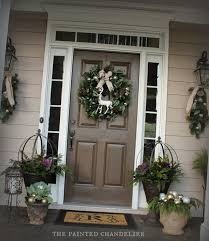 Front Door Chandelier Christmas Porch Ideas