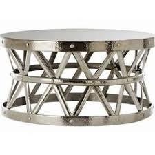 Hammered Metal Coffee Table Handmade Wanderloot Rotonde Hammered Copper Metal Industrial Round