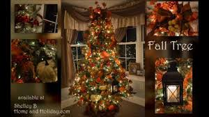 decorated fall tree by shelley b home and