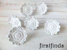 Shabby Chic Drawer Pulls by 4 White Knobs Snowflake Kitchen Cabinet Pulls By Firstfinds