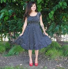 Cheap Clothes For Plus Size Ladies Womens Plus Size Dress Black Polka Dot Rockabilly Pin Up Retro