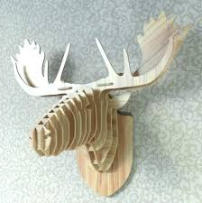 home interiors deer picture wooden wall mount white l heads wall decor resin deer