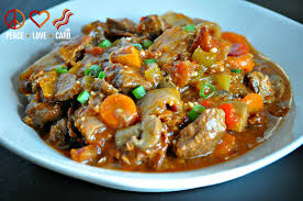 hearty slow cooker low carb beef stew paleo and gluten free