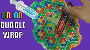 bubble wrap coloring color bubble wrap with water and food