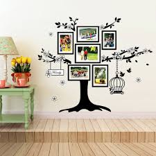 wall stickers uk wall art stickers kitchen wall stickers ws9021 huge family tree photo frames birdcage