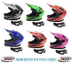 siège moto bébé casque moto enfant 3go xk188 rocky enfants casque motocross mx