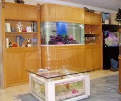 beautiful design of the wooden fish tank table that can be applied