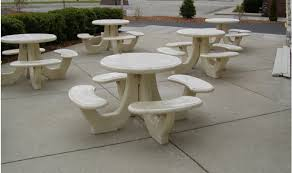 round cement picnic tables commercial concrete table barco products