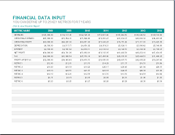 annual financial report template word document templates