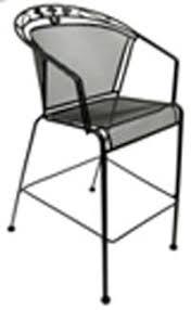 furniture mmc 1 outdoor restaurant patio chair w mesh metal seat