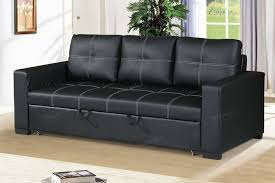 black convertible sofa black faux leather convertible sofa