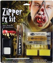 deluxe horror halloween makeup scary fx zipper kit accessory ebay