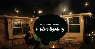 outdoor lighting how to hang patio lights the easy way